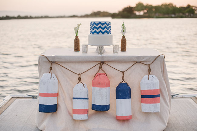 DIY nautical buoy garland (via greenweddingshoes.com)