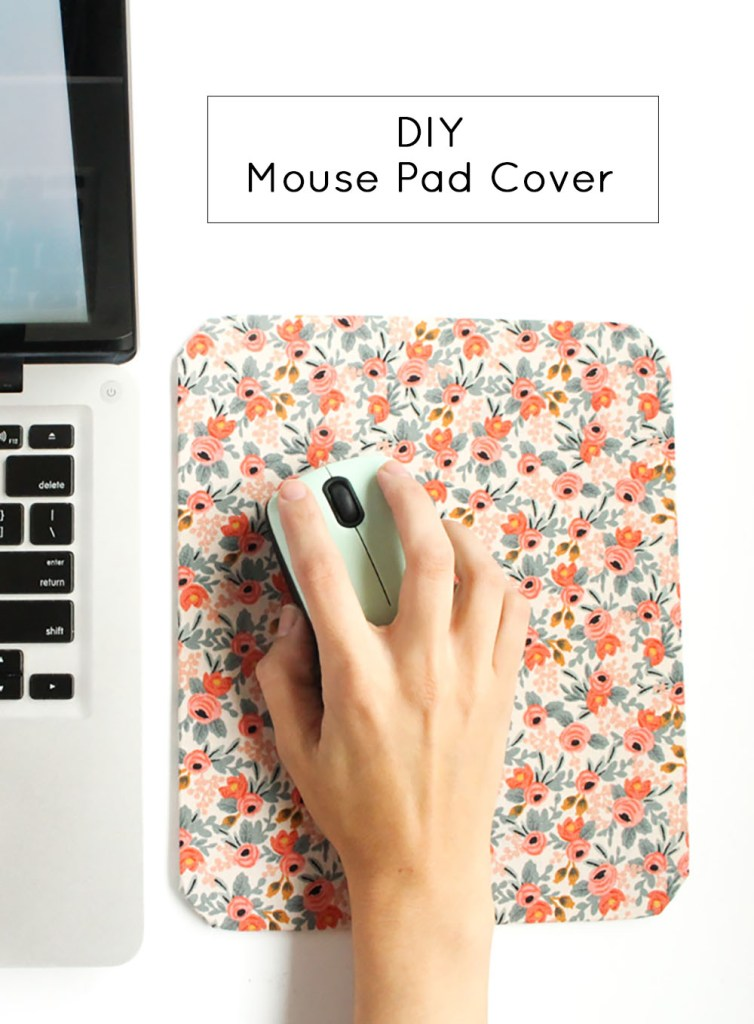 DY retro-inspired floral mouse pad (via www.goldstandardworkshop.com)