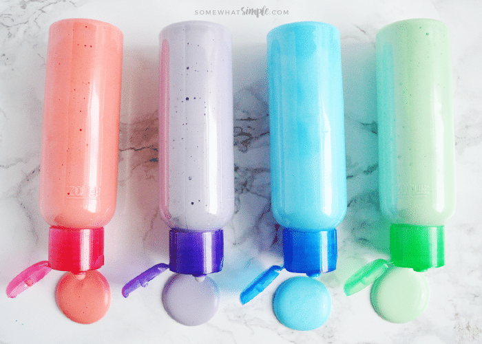 DIY puffy paint using shaving cream and glue (via www.somewhatsimple.com)