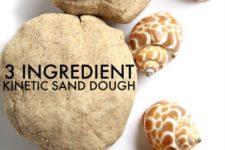 DIY 3-ingredient kinetic sand or dough