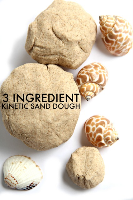 DIY 3-ingredient kinetic sand or dough (via www.theottoolbox.com)
