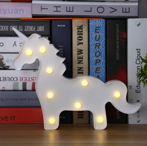 go for a cute unicorn LED lamp to add a whimsy touch to your space