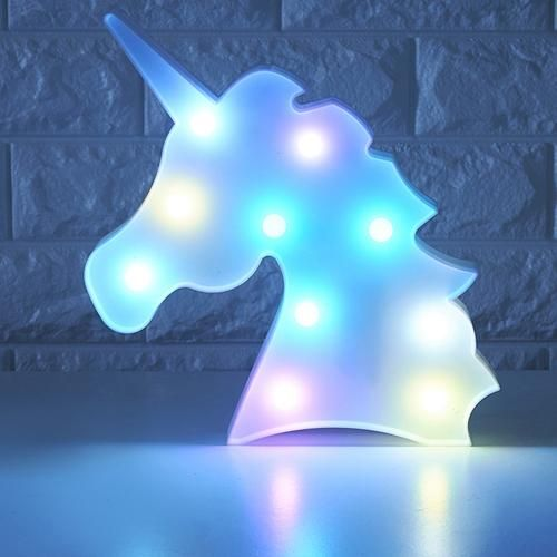a magical rainbow unicorn table lamp is all you need for a touch of whimsy