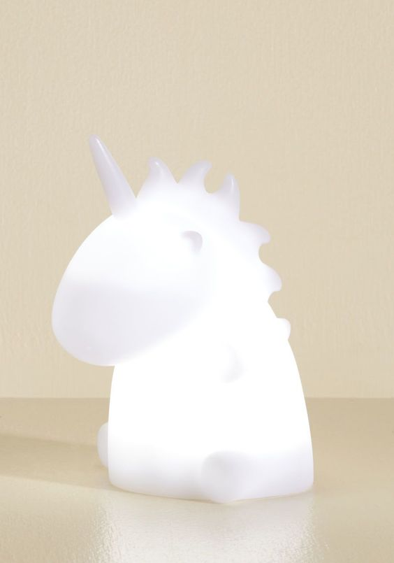 a gorgeous unicorn table lamp is ideal not only for kids' but also for adults' rooms