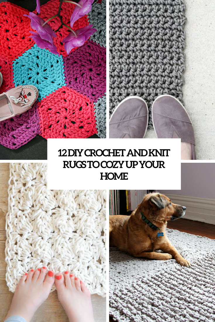 diy crochet and knit rugs to cozy up your home cover