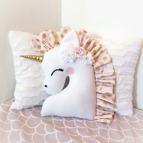 a cute unicorn pillow is easy to DIY and can be used in any space to add magic