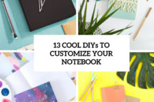 13 cool diys to customize your notebook cover