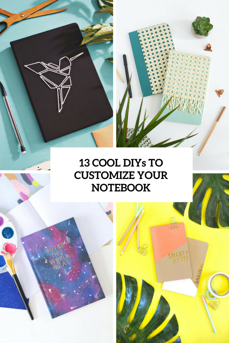 cool diys to customize your notebook cover