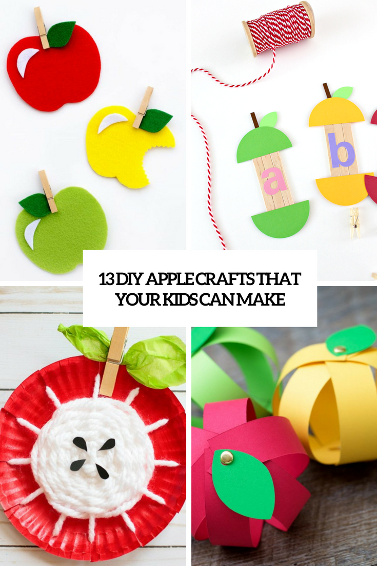 13 DIY Apple Crafts That Your Kids Can Make