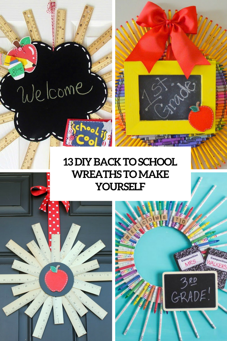 diy back to school wreaths to make yourself cover