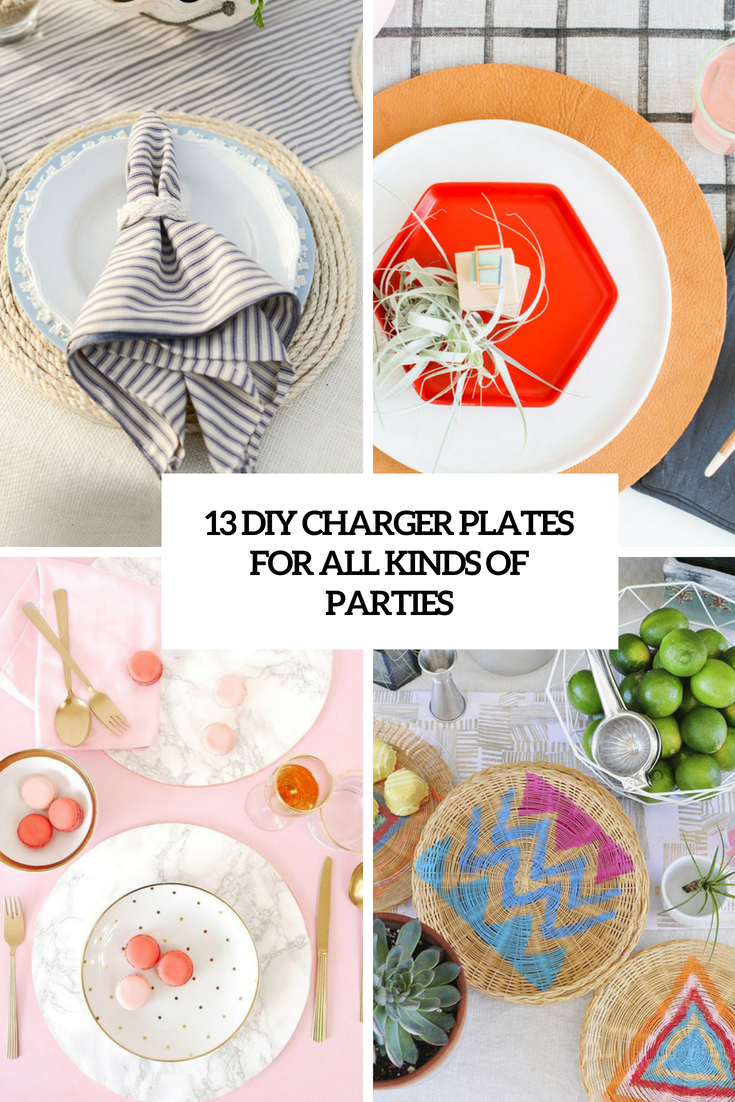 diy charger plates for all kinds of parties cover