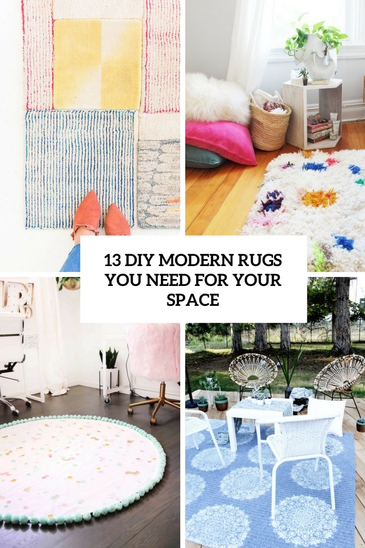 diy modern rugs you need for your space cover