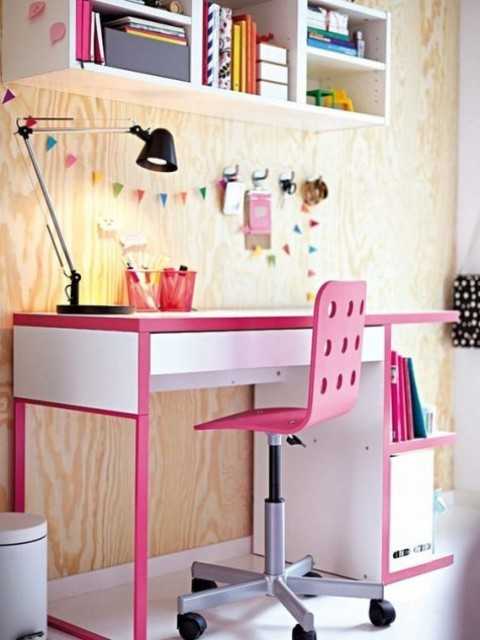 make Micke more colorful with bold pink edges and rims, so it will be ideal for a kids' space