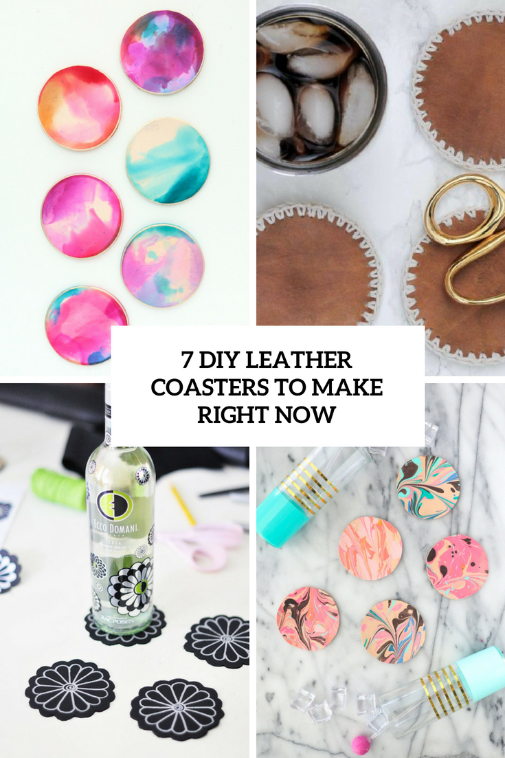 7 diy leather coasters to make right now cover