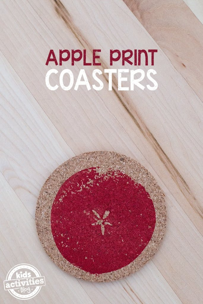 DIY cork coasters with apple prints (via familymaven.io)