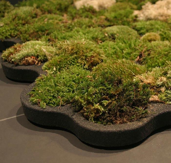 DIY real moss covered bathroom mat (via www.jebiga.com)