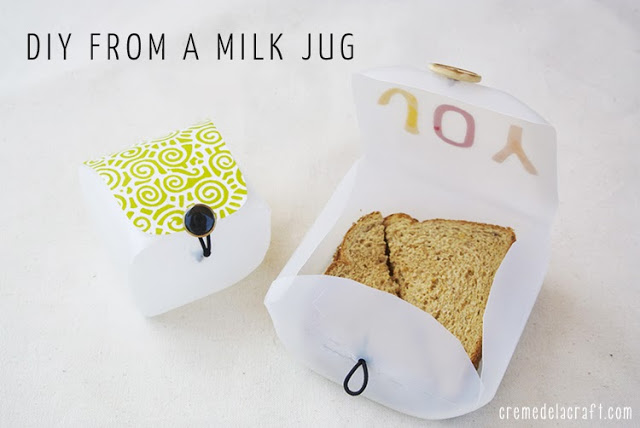 DIY milk jug lunch boxes (via www.cremedelacraft.com)