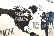 DIY printable black and white world map