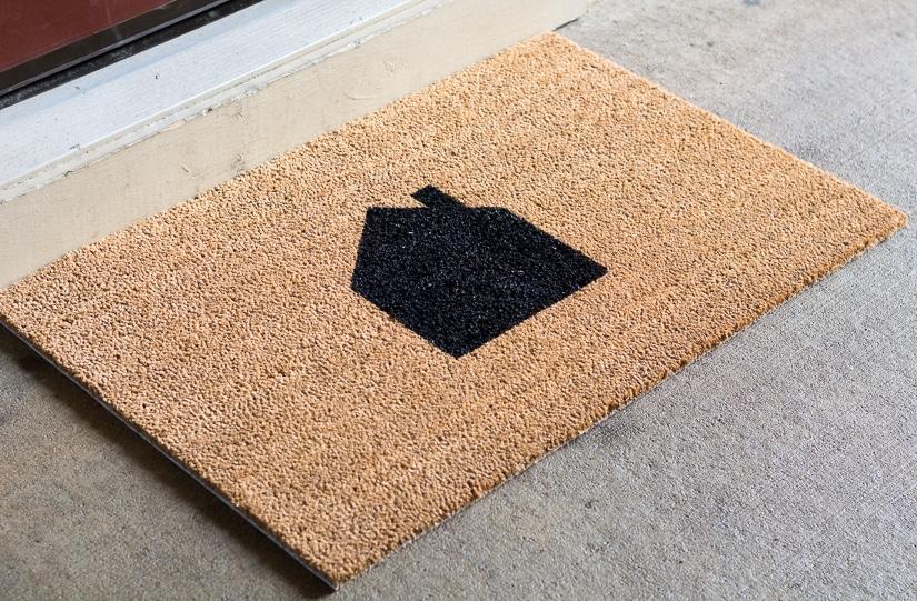 DIY neutral house painted doormat