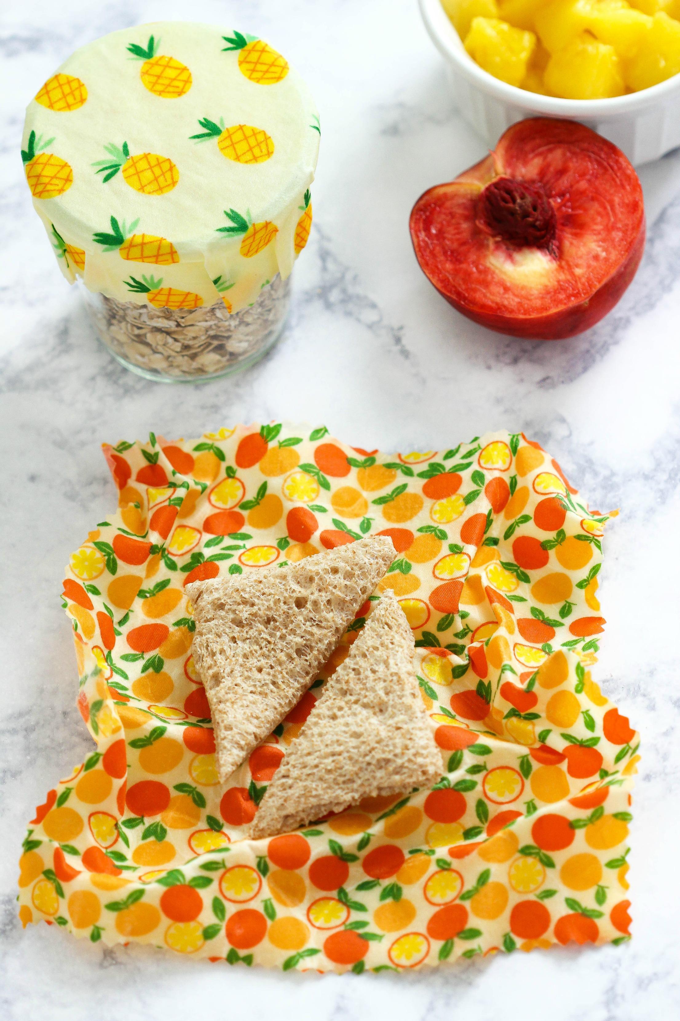DIY beeswax fabric food wraps