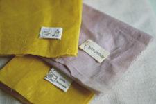 DIY naturally dyed beeswax cloth food wraps