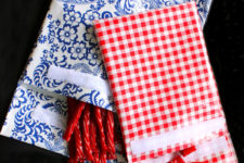 DIY reusable snack bags of fabric