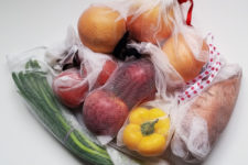 DIY upcycled no wasted produce bags