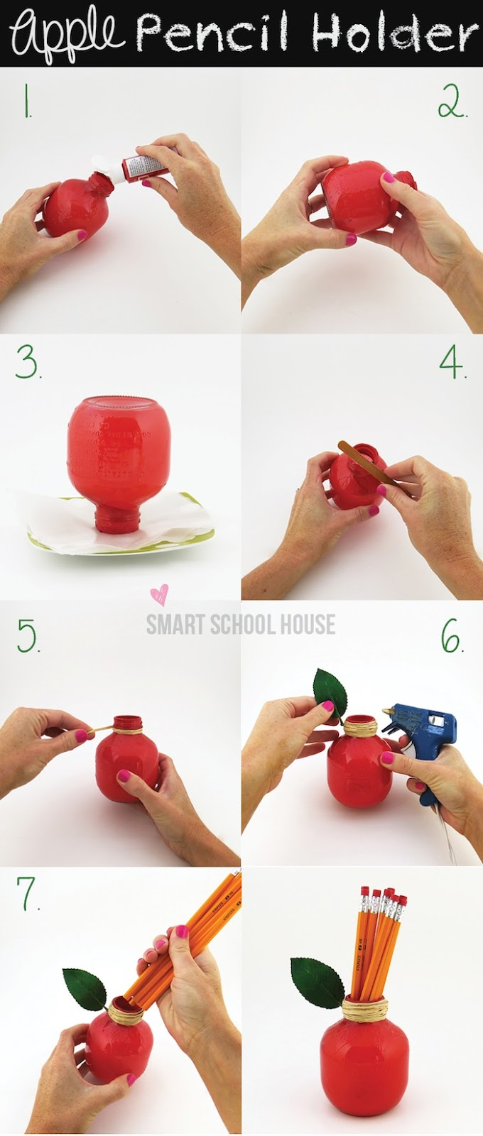 DIY apple pencil holder (via www.smartschoolhouse.com)