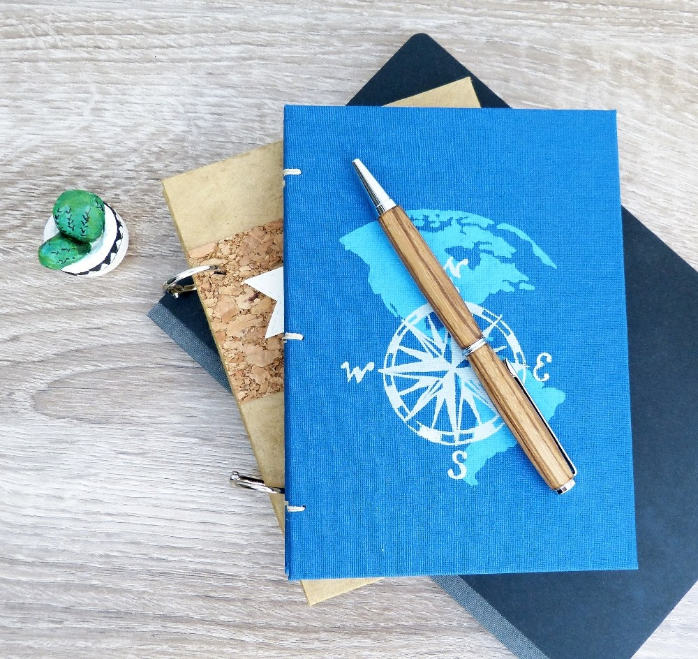DIY bright printed travel journals