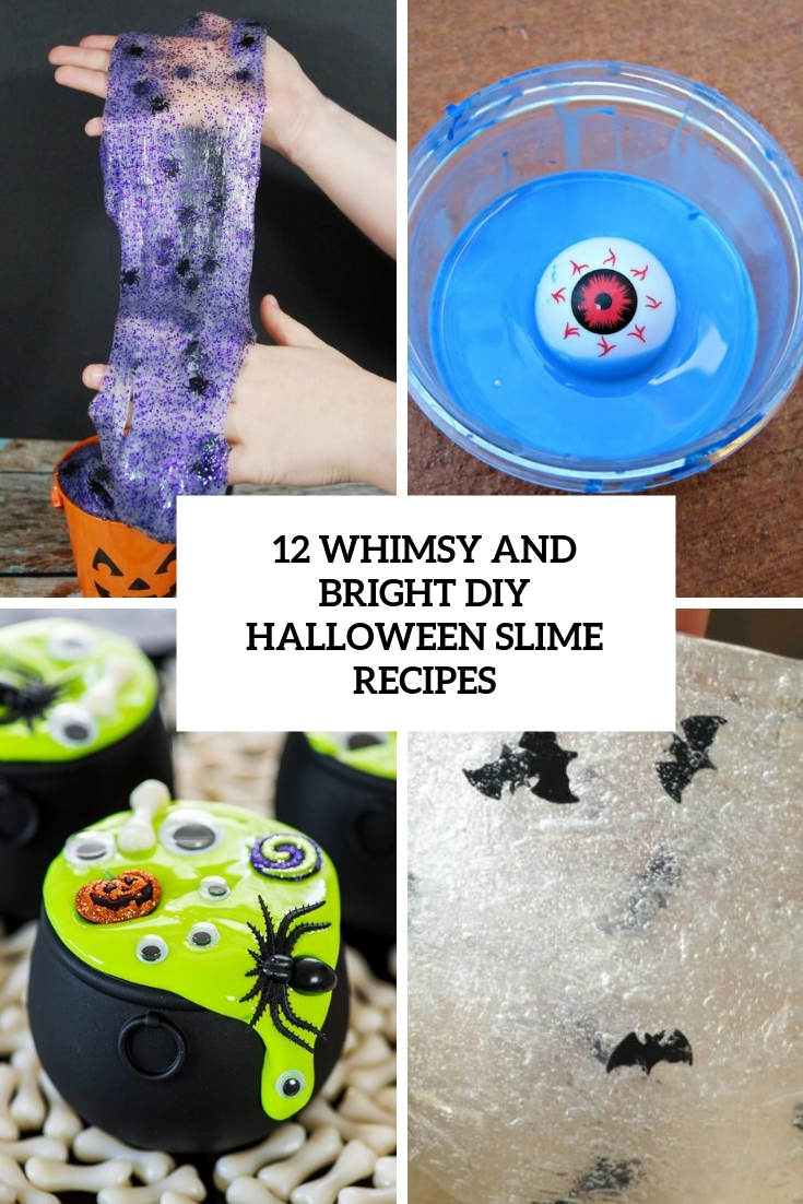 12 Whimsy And Bright DIY Halloween Slime Recipes
