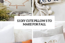 13 diy cute pillows to make for fall cover