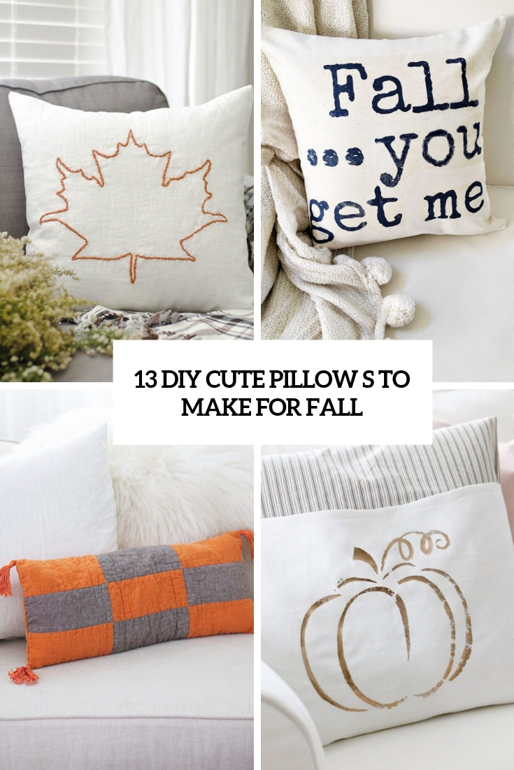 diy cute pillows to make for fall cover