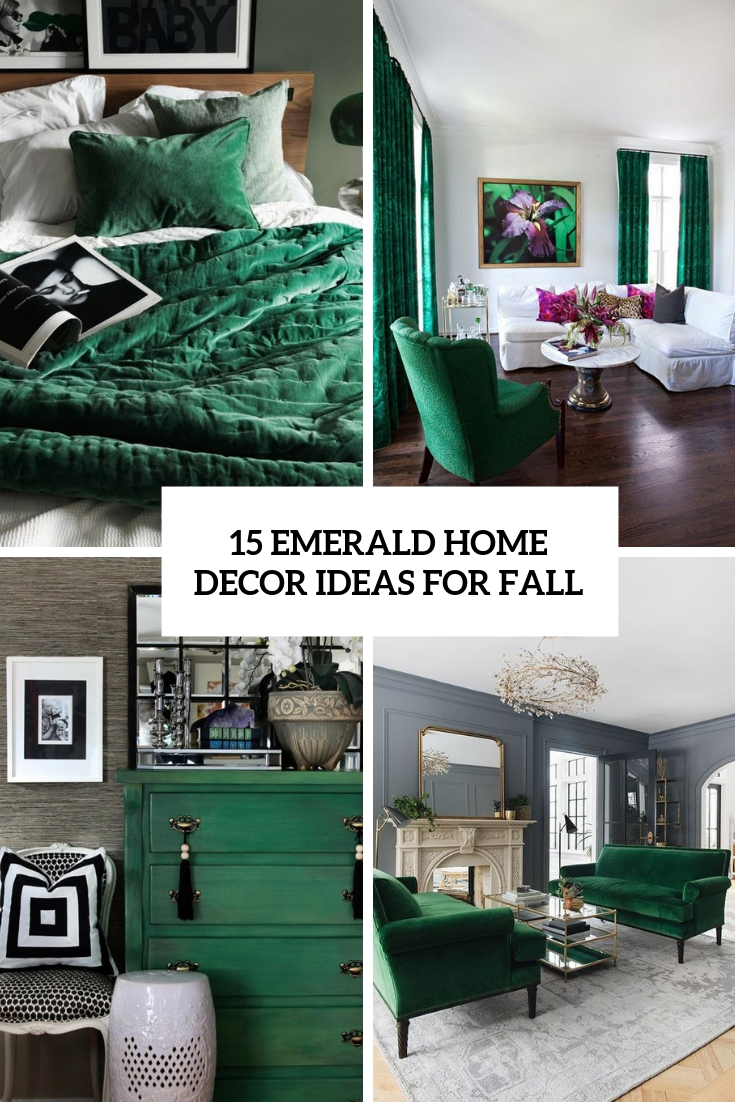 emerald home decor ideas for fall cover