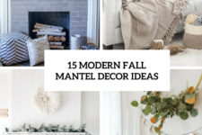 15 modern fall mantel decor ideas cover