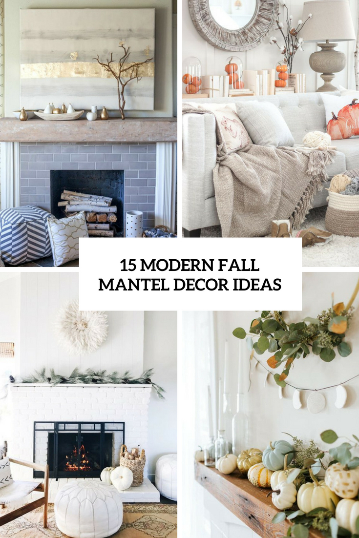modern fall mantel decor ideas cover