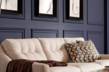 31 accent your wall with molding and colors, too, to make a bolder statement