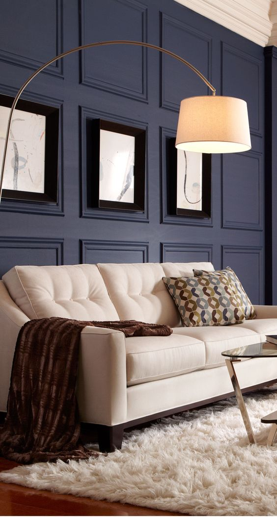 accent your wall with molding and colors, too, to make a bolder statement