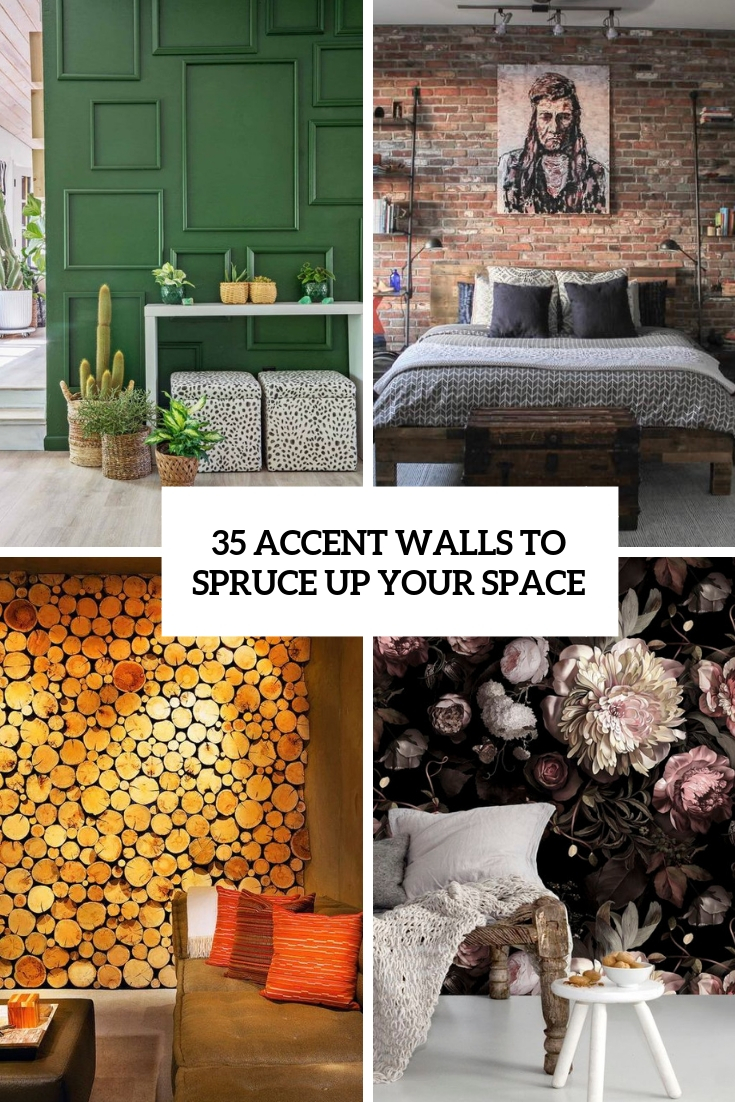 accent walls to spruce up your space cover