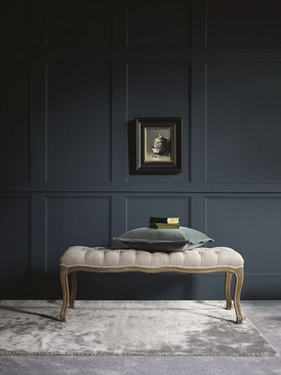go for dark paneling to make your moody space complete and not boring