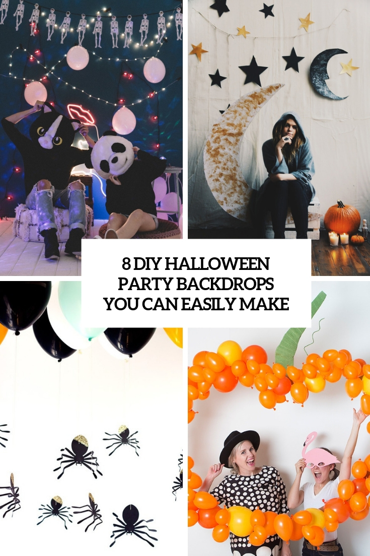 8 diy halloween party backdrops you nca easily make cover