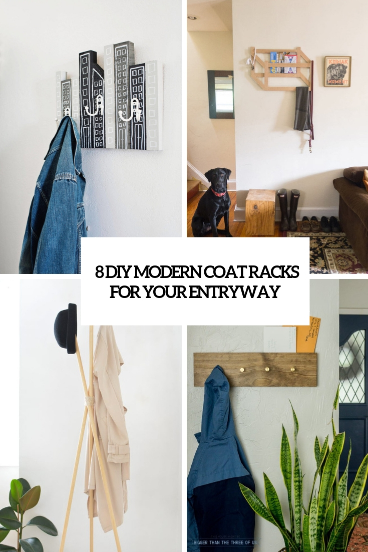 8 DIY Modern Coat Racks For Your Entryway
