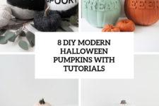 8 modern diy halloween pumpkins with tutorials cover