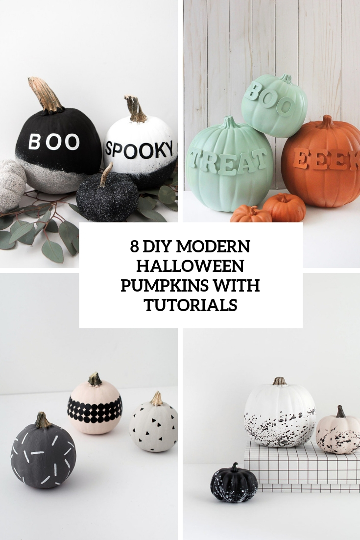 8 modern diy halloween pumpkins with tutorials cover