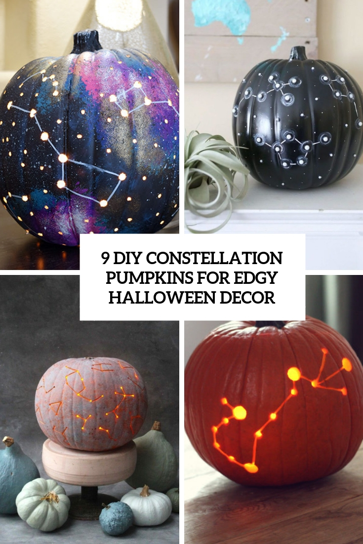 9 DIY Constellation Pumpkins For Edgy Halloween Decor