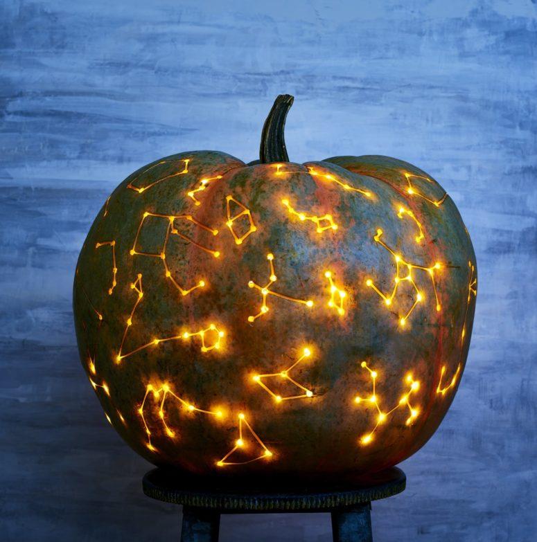 DIY constellation jack-o-lantern (via www.popsugar.com)