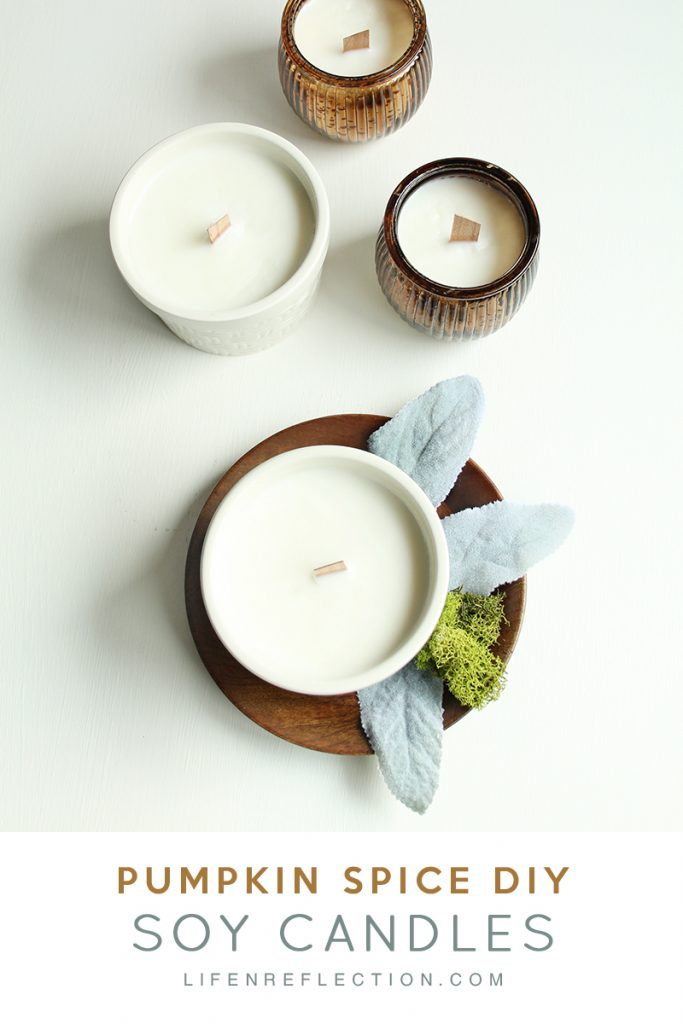 DIY cinnamon, clove, orange and ginger essential oil candles (via www.lifenreflection.com)