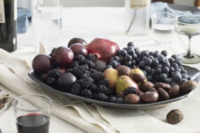 DIY berries and fruits fall centerpiece