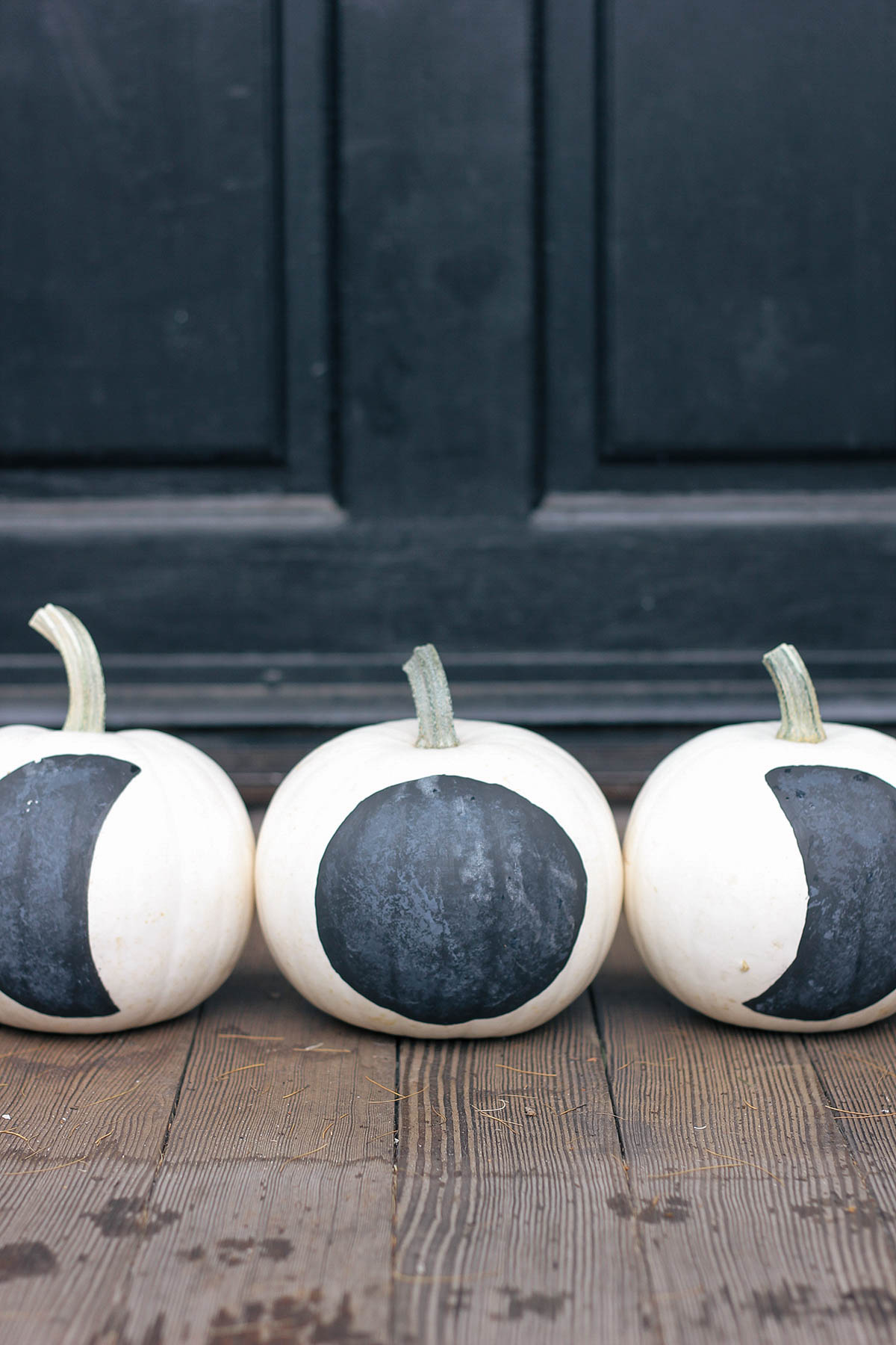 DIY painted moon phase pumpkins