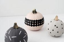 DIY modern patterned pumpkins