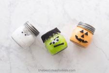 DIY Halloween slime in jars